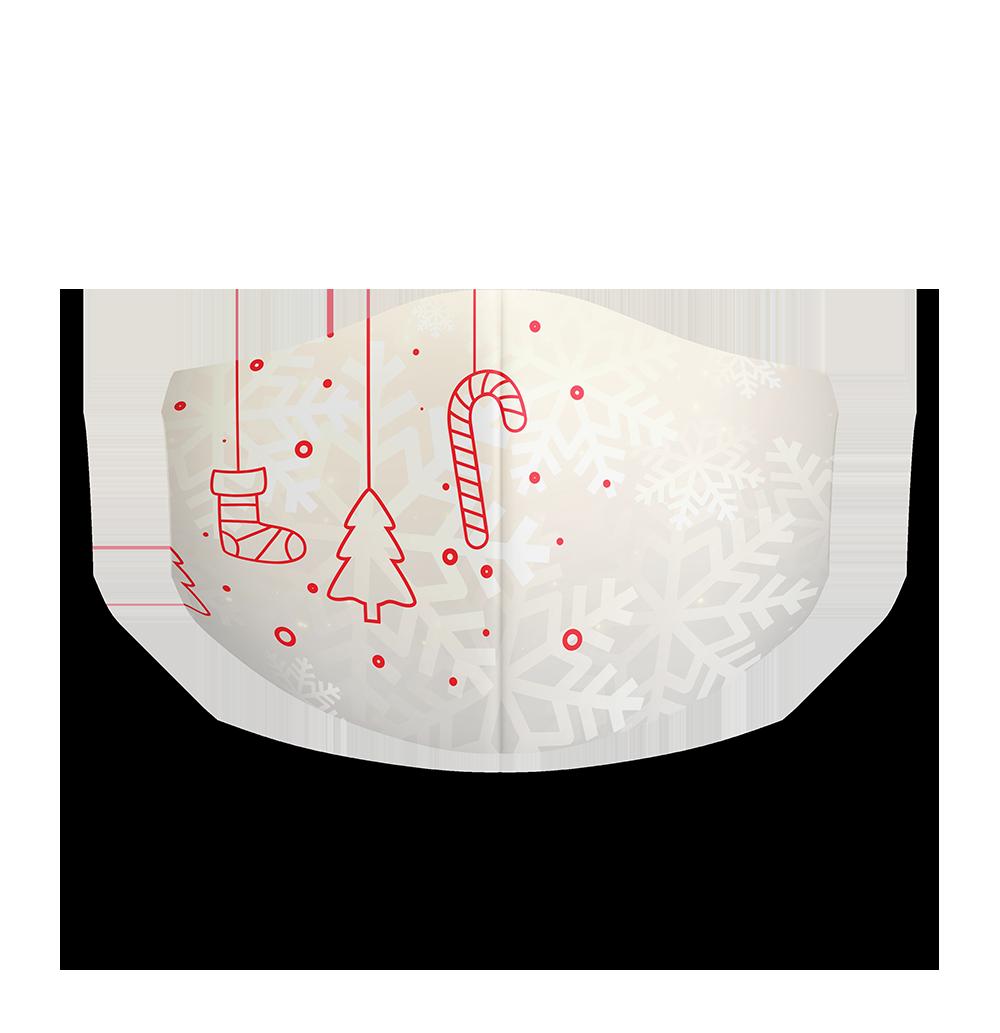 Rúška so zimnou potlačou
