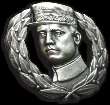 Pin Štefánik postriebrený 22mm