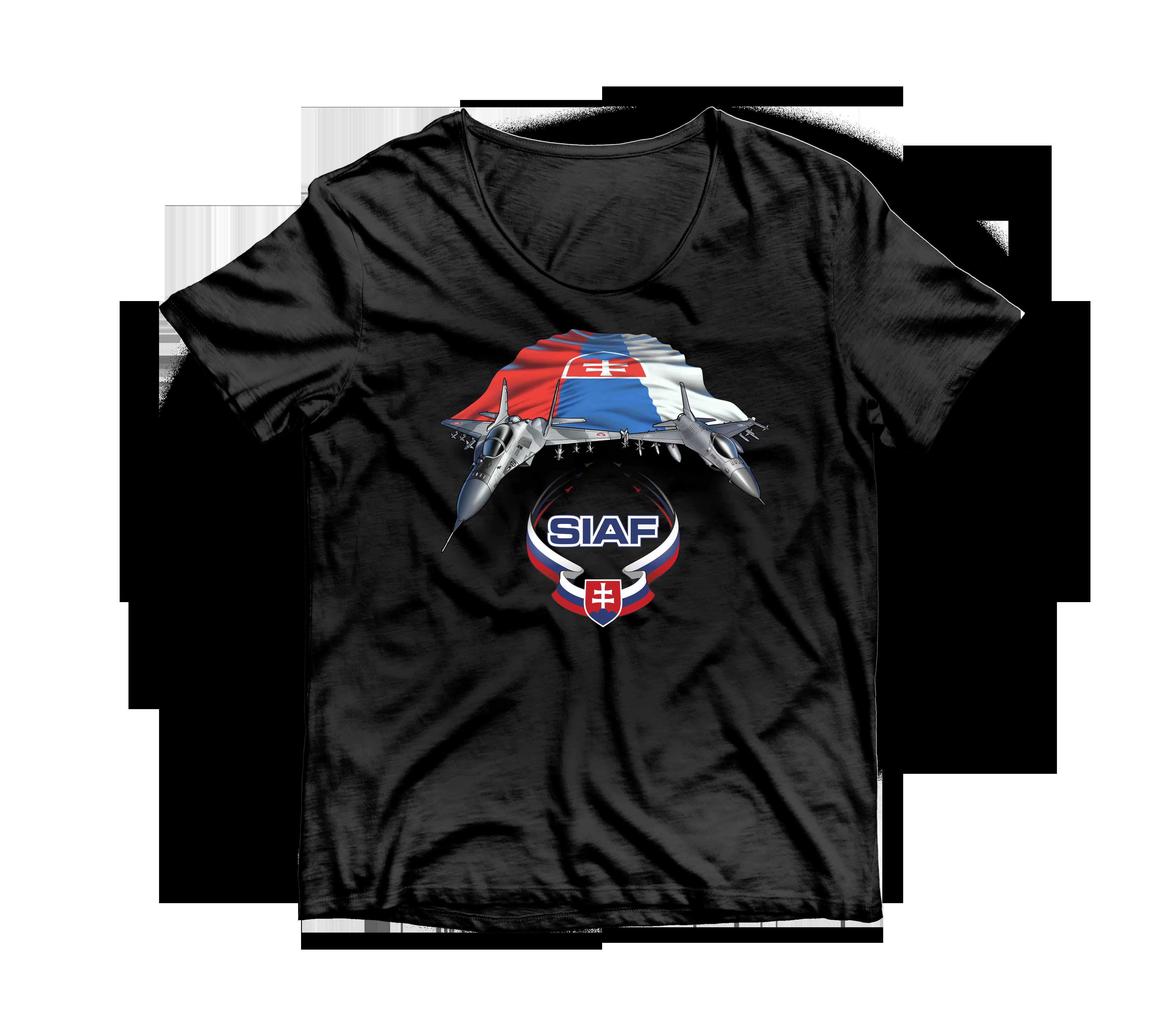 SIAF tričká 2021 - SIAF tričko 2021 Čierne